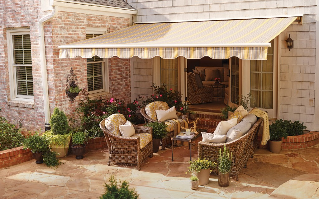 sunbrella fabric sunsetter replacement retractable awning